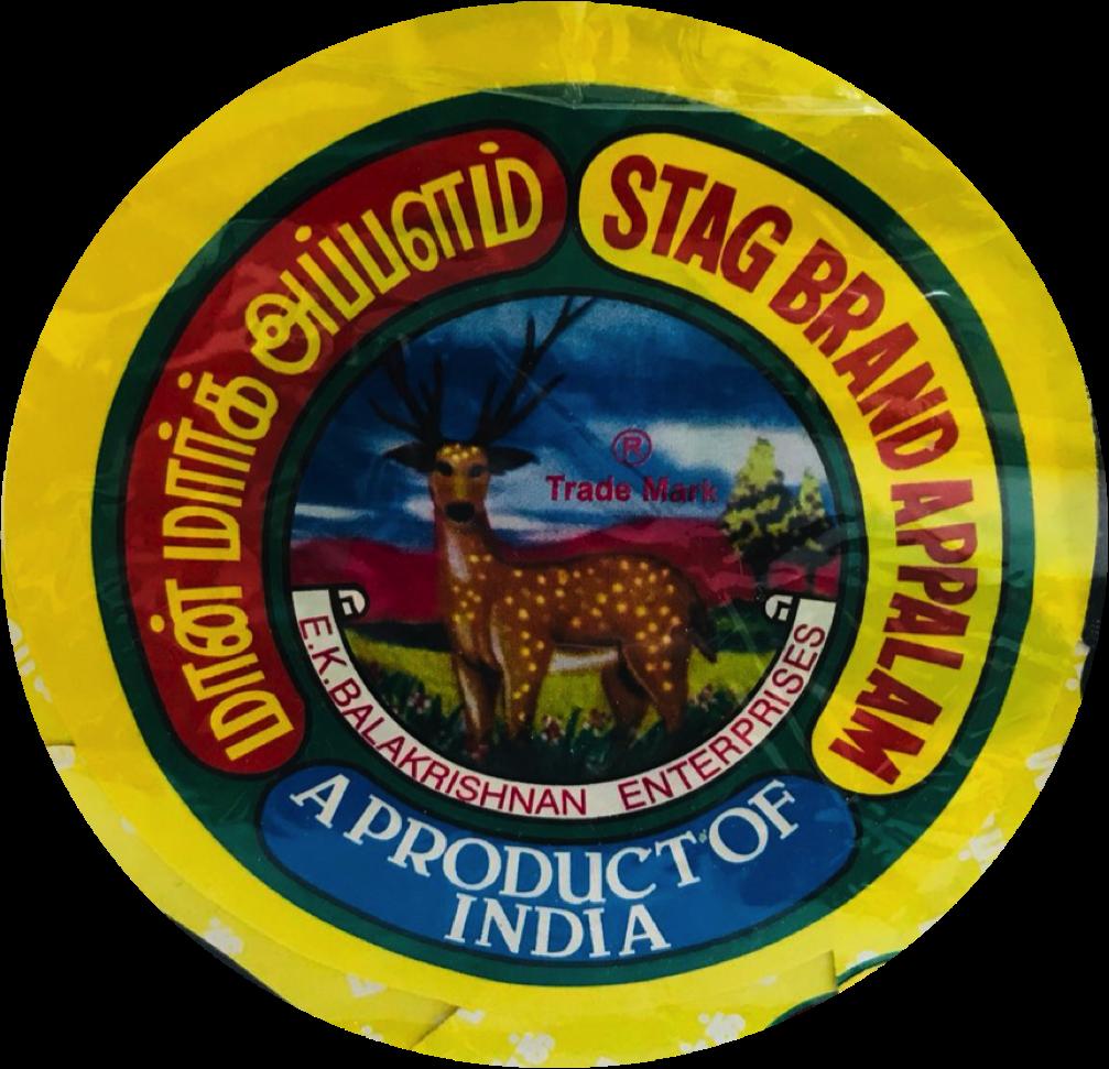 Stag Brand Appalam Medium (மான் மார்க் அப்பளம்) 120g