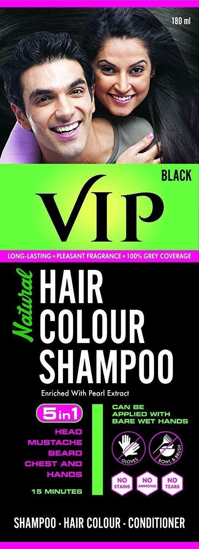 VIP Hair colour Shampoo Black 180ml
