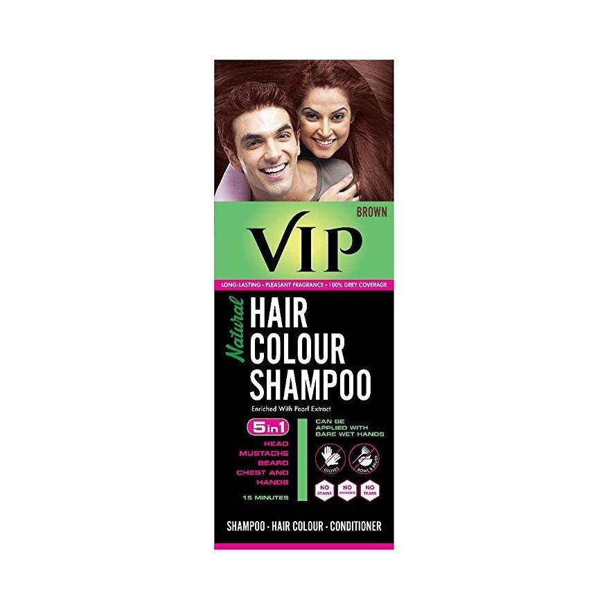 VIP Hair colour Shampoo Brown 180ml
